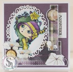 Verity Rose Moonstruck coloured with Spectrum Noir Sparkle pens (vintage set). More detals can be found at http://stampingbubbles.blogspot.co.uk/2016/05/moonstruck-sparkle.html