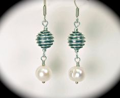A lovely gift - Twisted sterling beads & freshwater pearls.  $18.00