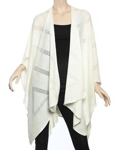 warm soft ruana - so beautiful in its coverage, longer length, width and ease of wear. Best travel wraps. http://www.yourselegantly.com/winter-shawls-ruana-wraps/ruana-cape-wraps.html