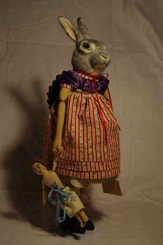 Vintage toy rabbit.