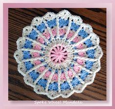 """I added """"Spoke Wheel Mandala - Free Crochet Mandala Pattern"""" to an #inlinkz linkup!http://www.crochetmemories.com/blog/spoke-wheel-mandala/"""