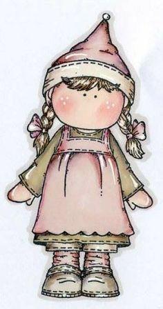 Dibujos. Clipart. Digi stamps - Magnolia Country Girl