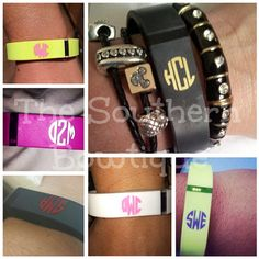 Fitbit Flex Monogram Decals by ShopSouthernBowtique on Etsy