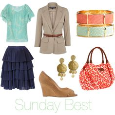 great sunday outfit-- stylish, modest and church-appropriate :)
