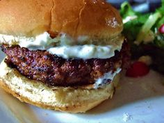 Carrie's Experimental Kitchen: Guest Blogger-Greek Feta Burgers from Running with the Deviled Eggs