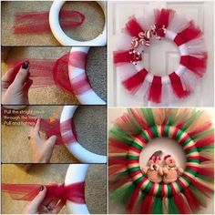 Best 12 Excited to share this item from my shop: Christmas Tutu Wreath, Christmas Tulle Wreath, Christmas Wreath Homemade Christmas Wreaths, Noel Christmas, Holiday Wreaths, Christmas Projects, Holiday Crafts, Christmas Ornaments, Christmas Entryway, Holiday Ideas, Wreath Crafts