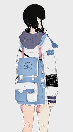 New beautiful art drawings inspiration dibujo 56 ideas Art Anime Fille, Anime Art Girl, Anime Girls, Art Drawings Beautiful, Cute Drawings, Anime Naruto, Aesthetic Art, Aesthetic Anime, Art Mignon