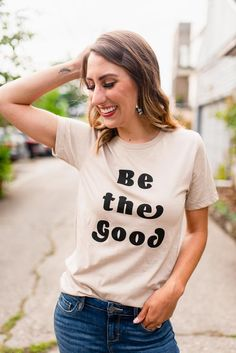 Be the Good Graphic Tee - Rollick Source by fashfrugality tees Fashion Models, Work Fashion, Emo Fashion, Fashion Spring, Fasion, Fashion Outfits, Graphic Tee Outfits, Summer Outfits, Cute Outfits
