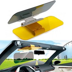 compare prices stylish car sun visor anti dazzling mirror driver day night vision auto driving clear #mirror #glass