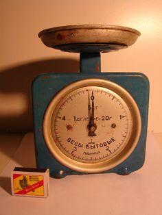 Soviet vintage scale USSR era 1970s Rustic Kitchen by Luckytage, €17.00