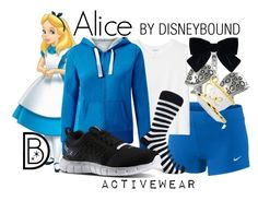 """Alice"" by leslieakay ❤ liked on Polyvore featuring Disney, NIKE, Monki, Tressa, Reebok, Blue Nile and Yves Saint Laurent"