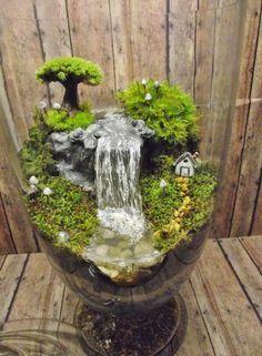 Mini jardim com fonte