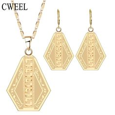 CWEEL Dubai African Beads Jewelry Sets Necklace Earrings For Wedding Engagement Jewellery Party Fashion Accessories