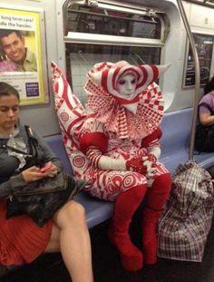 NYの地下鉄にて