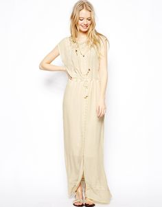 Maxi Dress With Lace Panels