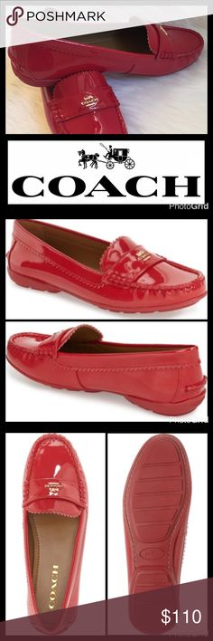 JUST IN🆕COACH PATENT MOCCASIN A patent leather loafer with a moc-stitched toe and a flexible rubber sole features pinked trim for a dash of feminine charm. ▪️Slip-on style ▪️Leather upper and lining ▪️Rubber sole ▪️Fits true to size  🛍 2+ BUNDLE=SAVE  ‼️NO TRADES--NO HOLDS--NO MODELING  💯 Brand Authentic  ✈️ Ship Same Day--Purchase By 2PM PST  🖲 USE BLUE OFFER BUTTON TO NEGOTIATE   ✔️ Ask Questions Not Answered In Description--Want You To Be Happy! Coach Shoes Flats & Loafers