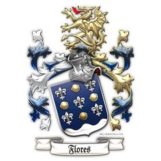 Family Heraldry: Flores family Coat of Arms by Serge Averbukh Design Studio) for ProHeraldica (USA) Family Crest, Letterhead, Coat Of Arms, Knight, Workshop, Coats, Studio, Artwork, Design