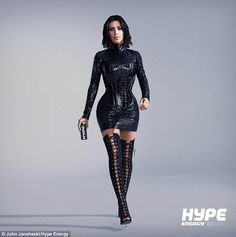 Kim Kardashian channels Audrey Hepburn and Marie Antoinette in a short film from Hype Energy. Kim is the brand ambassador for the energy drink company. Sexy Outfits, Sexy Dresses, Estilo Kardashian, Kardashian Style, Kim Kardashian Photoshoot, Fetish Fashion, Mode Inspiration, Leather Fashion, Ideias Fashion