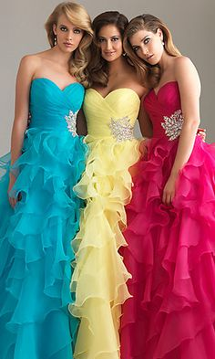 $165.35 Ball Gown Sweetheart Ruffled Organza Layered Beaded Floor Length Long Prom Dresses