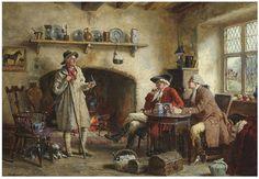 Frank Moss Bennett | Frank Moss Bennett (1874-1953) . The shepherd's tale. Oil on canvas ...