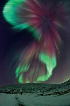 Celestial illumination taken on 29 November 2011 by Ole C. Salomonsen, Norway Picture: COLLINS