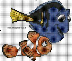 Marlin & Dory cross stitch 3-3