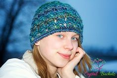 Peacock Lace Beanie - $4.95 by Crystal Buchoiz of Crystalized Designs / Peacocks - Animal Crochet Pattern Round Up - Rebeckah's Treasures