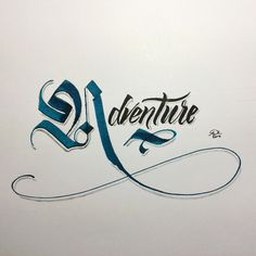 Something a little different this evening. Adventure. #makedaily #calligraphy…