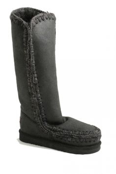 Boot Slip on ugg type boot with black and white trim and