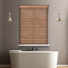 12V DC battery powered Richmond Urban Beech wood blind.  #HomeDecor #InteriorDesign #Decor #WoodenBlinds  #CreateYourHome #BudgetBlinds #WindowShades #Window  #Design #Blind #WindowCoverings #Windows #MadeinUK