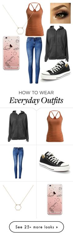 """""""everyday outfit"""" by peridot11871 on Polyvore featuring Converse, WithChic, adidas and A Weathered Penny"""