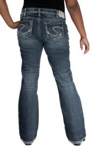 Silver Jeans® Women's Mid Rise Aiko Boot Cut Curvy Fit Jeans- Plus Sizes | Cavender's