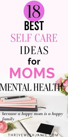 Mental health and self-care are important for moms so that moms feel at their best to be able to nurture and care for their families. These are some quick and easy self-care ideas and activities for mental health and self-love for moms. Improve Mental Health, Good Mental Health, Tips To Be Happy, Happy Mom, Happy Life, Stress Relief Tips, Mindfulness Practice, Care Quotes, Self Care Routine