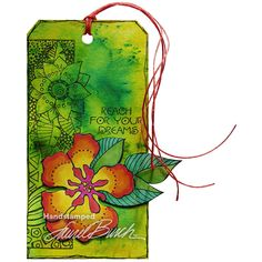 Laurel Burch Geo Flora Wishes Perfectly Clear Stamps