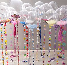 Glamorous Selection of Balloon Tails. Party Details.