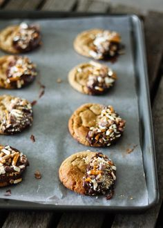 Recipe For Chocolate-Dipped Peanut Butter Cookies (With Pretzels!)