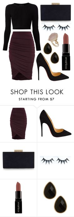 """Untitled #118"" by rodoulla97 on Polyvore featuring Cushnie Et Ochs, Christian Louboutin, Monsoon, Smashbox, Natasha Accessories, Topshop, women's clothing, women's fashion, women and female"