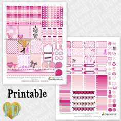 Breast Cancer Awareness printable planner stickers, Pink Ribbon monthly sticker kit, Printable PDF for ECLP / INSTaNT DOWNLOAD by PlannerDecorator on Etsy