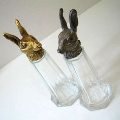 The Hares, a thrifted set of salt and pepper shakers. | by Kultur* via Flickr