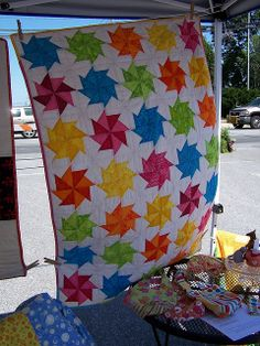 Pinwheel quilt at New Holland Market by simplysewn, via Flickr