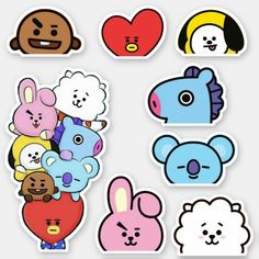 Shop STICKER created by PurpleUKpop. Pop Stickers, Tumblr Stickers, Printable Stickers, Anime Couples Drawings, Kpop Drawings, Journal Stickers, Planner Stickers, Frühling Wallpaper, Bts Book