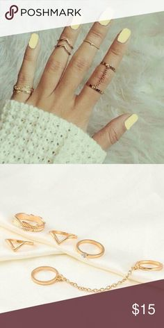 Midi Ring Set New 5 Piece midi gold plated ring set. See boutique for more fashions!  #love #beauty #makeup #fashion #swimsuit #streetwear #style #trend #boho #matte #201 #designer #crop #mid #wedding #marriage #women #plussize #plus #petite #small #medium #large #unicorn #brush #gold #silver #human #hair #dress #shirt #short #top #sunglasses #watches #jewelry #choker #multilayer #bohemian #rings #leggings #necklace #bracelet #crop #mini #sweater #animal #print Rima Imar Jewelry Rings
