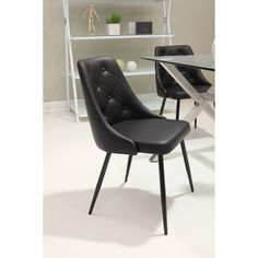Possible chairs, black. Zuo Modern Berry Dining Chair - Set of 2 $276.99