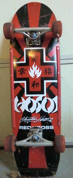 11b3ab23c79e95 Christian Hosoi model skateboard from Black Label. Part of the