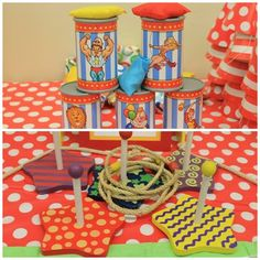 CARNIVAL THEMED BIRTHDAY PARTY/carnival-circus-theme-first-birthday-party-dessert-table-cake-party-games