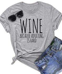 NANYUAYAKY Summer Cute Letter Print Women Short Sleeve Funny T-Shirt Top Tee