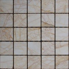 Mozaika marmurowa -  Kolekcja: Tetra 50; Kod: T5010; Wykończenie: ANTICO; Materiał: Golden Spider; Wym. Kostki: 5,0x5,0 cm; Wym. Plastra:  31,3x31,3 cm