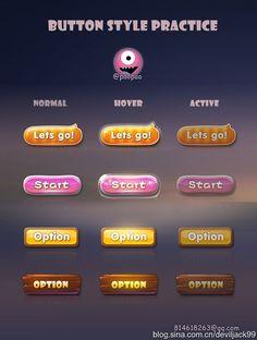 DEVILJACK-99采集到游戏UI-Gif动画和按钮(27图)_花瓣UI/UX
