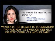 """Wikileaks Ties Hillary To Clinton Foundation """"Pay For Play""""! Exposes Debate Lies! $12 Million! - YouTube"""