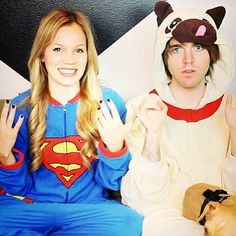Shane Dawson and Lisa oh my gosh! @Delanie Stickle Stickle Stickle Stickle Stickle Stickle Frazee lisa has the same pjs as you! haha!